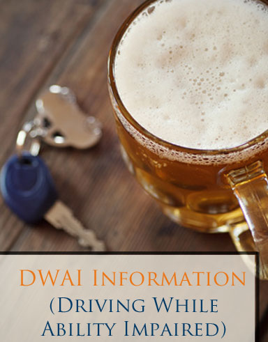 Have you been accused of Driving While Ability Impaired (DWAI) in Fort Collins or Larimer County? Contact us for a FREE initial consultation immediately.